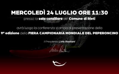Fiera Mondiale del Peperoncino: il 24 luglio conferenza stampa di presentazione