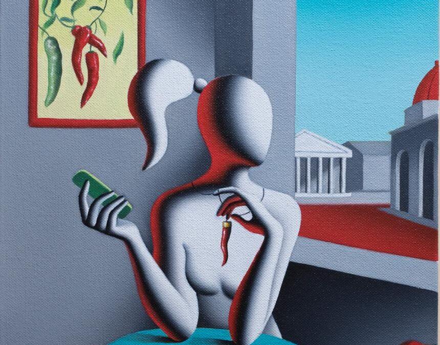 L'artista americano Kostabi dedica un'opera alla Fiera del Peperoncino di Rieti.