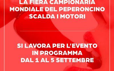 La Fiera Mondiale Campionaria del Peperoncino scalda i motori!